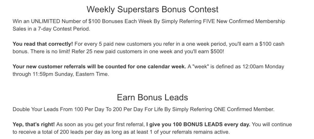 My Lead Gen Secret Bonuses